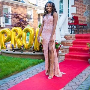 women prom dress size 2 rose